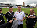 The South Africa squad addressed the media at Taunton, Somerset v South Africans, Tour match, Taunton, 2nd day, July 10, 2012