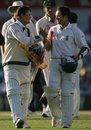 Jacques Rudolph and Mark Boucher celebrate a famous draw, Australia v South Africa, 1st Test, Perth, 4th day, December 20, 2005