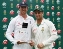 Mark Boucher and Graeme Swann with their awards, South Africa v England, 4th Test, Johannesburg, South Africa, January 17, 2010