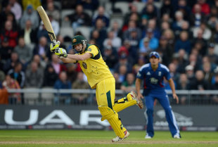 Steven Smith played a busy innings before falling for 21, England v Australia, 5th ODI, Old Trafford, July 10, 2012