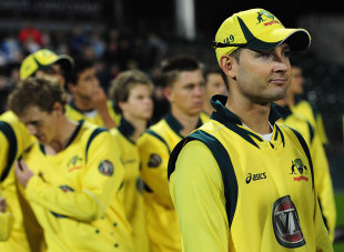 Michael Clarke was left with plenty to think about, England v Australia, 5th ODI, Old Trafford, July 10, 2012