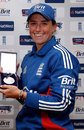 Georgia Elwiss with her Player of the Tournament award, England Women v India Women, 5th ODI, Wormsely, July 11, 2012