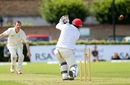 Alex Cusack broke Mohammad Shahzad's leg stump, Ireland v Afghanistan, Intercontinental Cup, 3rd day, Dublin, July 11, 2012