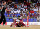 Marlon Samuels was run out for 11, West Indies v New Zealand, 3rd ODI, Basseterre, July 11, 2012