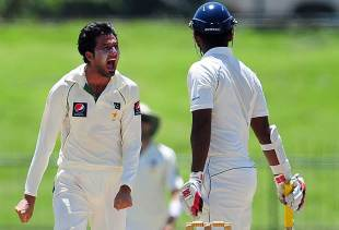Junaid Khan had Tharanga Paranavitana caught at slip, Sri Lanka v Pakistan, 3rd Test, Pallekele, 5th day, July 12, 2012