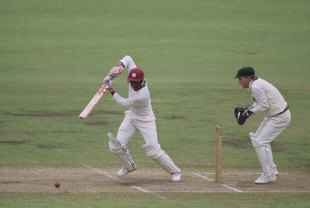 Brian Lara bats during his innings of 277, Australia v West Indies, third Test, Sydney, January 4, 1993