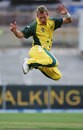 Brett Lee's signature celebration, Australia v West Indies, 1st match, VB Series, January 14, 2005