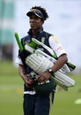South Africa's Thami Tsolekile heads to practice, The Oval, London, July 17, 2012