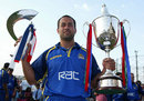 Adam Hollioake with Surrey's silverware