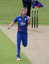 Adam Ball celebrates removing Robin Kelly, England U-19 v Ireland U-19, Grace Road, July, 18, 2012