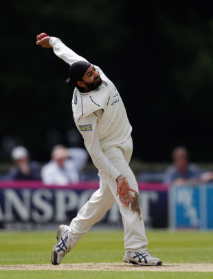Monty Panesar trapped Mark Stoneman lbw for 50, Sussex v Durham, County Championship, Arundel, July, 19, 2012