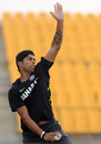 Umesh Yadav at a practice session in Hambantota ahead of the first ODI on Saturday