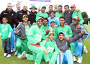 Bangladesh celebrate their Twenty20 whitewash over Ireland, Ireland v Bangladesh, 3rd Twenty20, Stormont, July 21, 2012
