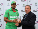 Mashrafe Mortaza collects his Man-of-the-Match award, Ireland v Bangladesh, 3rd Twenty20, Stormont, July 21, 2012