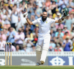 Hashim Amla brought up his second Test double century, England v South Africa, 1st Investec Test, The Oval, 4th day, July, 22, 2012
