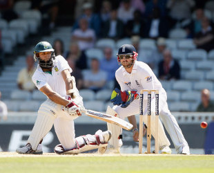 Hashim Amla sweeps during his record-breaking innings, England v South Africa, 1st Investec Test, The Oval, 4th day, July, 22, 2012