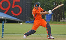 Tom Cooper cuts on the way to a match-winning 37 not out, Netherlands v UAE, WCL Championship, Rotterdam, July 21, 2012
