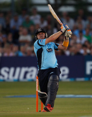 Scott Styris' best shots were played down the ground, Sussex v Gloucestershire, Friends Life T20, Hove, July, 24, 2012