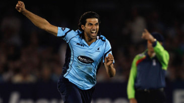 Amjad Khan took the wicket of Hamish Marshall