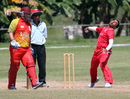 Mudassar Hussain bowling against Brisbane/Gold Coast at the Air Niugini Super Series 2012 in Port Moresby