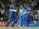 Upul Tharanga and Tillakaratne Dilshan run between the wickets, Sri Lanka v India, 2nd ODI Hambantota, July 24, 2012