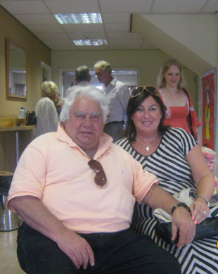 Farokh Engineer with his wife Julie, July 2012