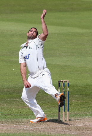 Andre Adams made the early breakthrough of Ed Joyce, Nottinghamshire v Sussex, County Championship, Trent Bridge, 1st day, July, 27, 2012