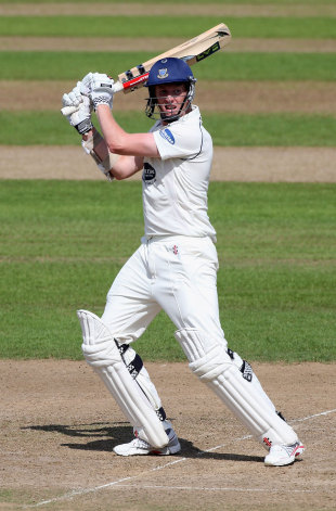 Luke Well's made 54 in 147 balls, Nottinghamshire v Sussex, County Championship, Trent Bridge, 1st day, July, 27, 2012