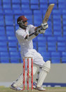 Assad Fudadin hit seven boundaries in his 55, West Indies v New Zealand, 1st Test, Antigua, 3rd day, July 27, 2012