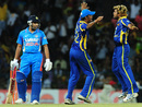 Rohit Sharma was dismissed for a first ball-duck by Lasith Malinga, Sri Lanka v India, 3rd ODI, Colombo, July 28, 2012