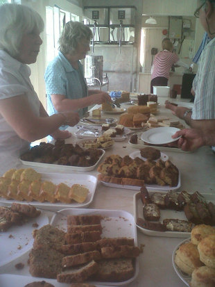 Tea time in the Ladies' Pavilion at New Road, Worcestershire v South Africans, Tour match, July 27, 2012