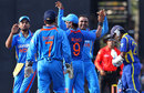 India get together after Mahela Jayawardene's dismissal