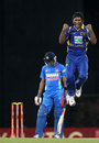 Jeevan Mendis trapped Manoj Tiwary lbw, Sri Lanka v India, 4th ODI, Colombo, July 31, 2012