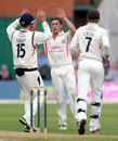Simon Kerrigan celebrates a dismissal, Lancashire v Somerset, County Championship, Division One, Aigburth, 2nd day, August 2, 2012