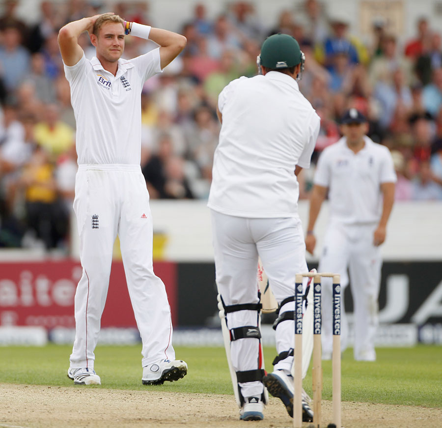 It was another tough day for Stuart Broad