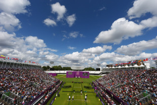 A view of Lord's during an archery match at the 2012 Olympics