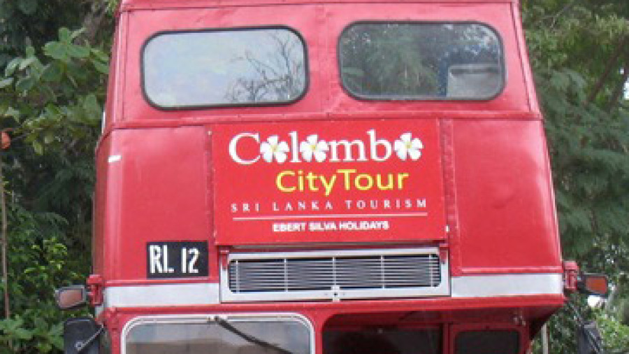 An old London Routemaster bus in Colombo