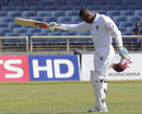 Marlon Samuels celebrates his century