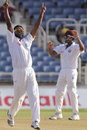 Narsingh Deonarine celebrates the wicket of BJ Watling