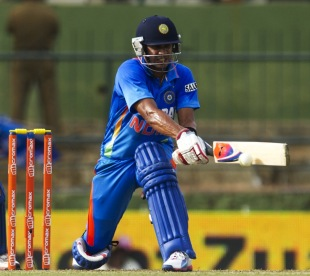 Manoj Tiwary plays the reverse-sweep, Sri Lanka v India, 5th ODI, Pallekele, August 4, 2012