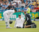 Graeme Smith went down with what looked like a knee injury