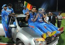 Virat Kohli was named the player of the series, Sri Lanka v India, 5th ODI, Pallekele, August 4, 2012