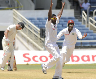 Narsingh Deonarine picked up 4 for 37, West Indies v New Zealand, 2nd Test, Jamaica, 3rd day, August 4, 2012
