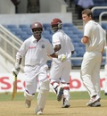 Shivnarine Chanderpaul and Kemar Roach combined for an important 70-run partnership