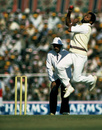 Andy Roberts bowling in his last Test