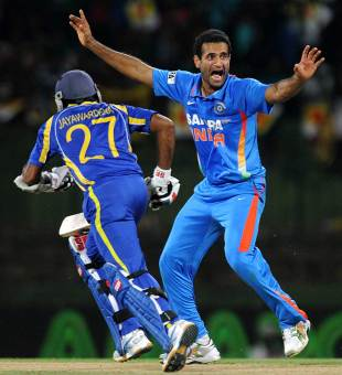 Irfan Pathan picked up three wickets, Sri Lanka v India, Only T20I, Pallekele, August 7, 2012