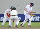 Eoin Morgan made a half-century batting at No. 3, England Lions v Australia A, 1st unofficial Test, Old Trafford, 1st day, August 7, 2012