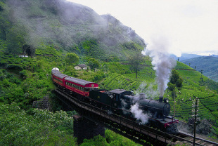 The train ride to Nuwara Eliya takes in some spectacular sights