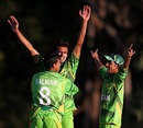 Zia-ul-Haq is embraced by team-mates, Pakistan v Afghanistan, ICC U-19 World Cup 2012, Buderim, August 11, 2012