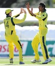 Gurinder Sandhu celebrates a wicket, Australia v England, ICC U-19 World Cup 2012, Townsville, August 11, 2012